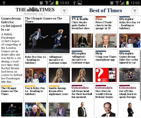 The Times Olympic Edition per Android