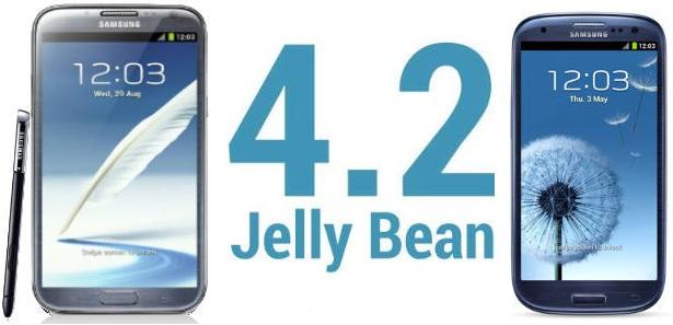 Samsung Galaxy S3 e Note 2: Jelly Bean 4.2 in arrivo nel primo trimestre del 2013